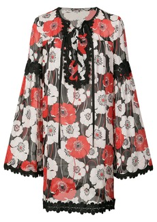 Anna Sui Field of Poppies dress - Black