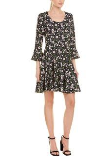 Anna Sui Floating Flowers A-Line Dress