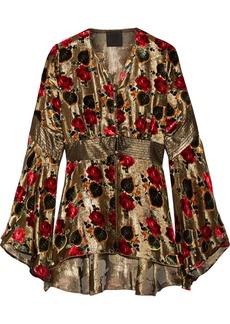 Anna Sui Flocked lamé blouse