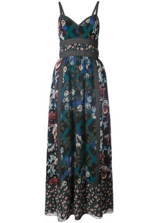 Anna Sui floral print dress - Blue