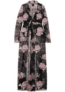 Anna Sui Floral-print lace jacket