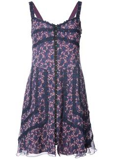 Anna Sui floral print swing dress - Pink & Purple
