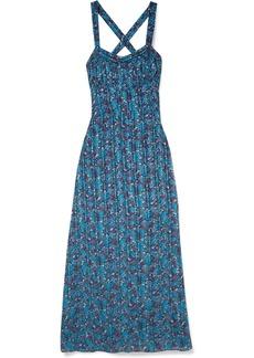 Anna Sui Incense and Joy printed silk-jacquard maxi dress