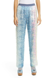 Anna Sui Iridescent Paillette Pants