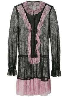 Anna Sui lace drop waist dress - Black