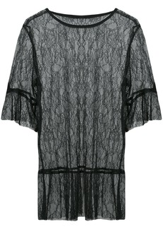 Anna Sui lace sheer blouse - Black
