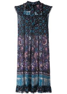 Anna Sui paisley print flared dress - Black