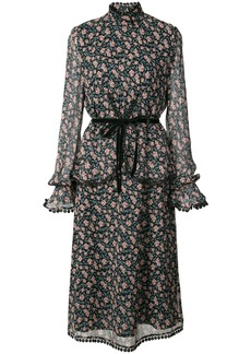 Anna Sui printed belted dress - Black