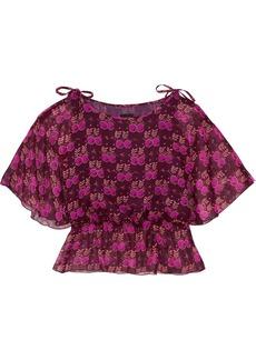 Anna Sui Printed silk-georgette blouse