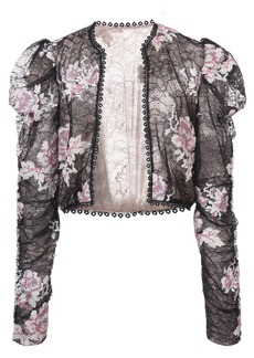 Anna Sui rose embroidered lace jacket