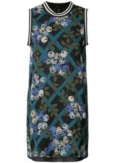 Anna Sui rose print dresss - Black