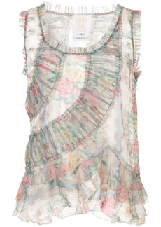Anna Sui sheer ruched vest top
