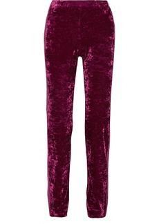 Anna Sui Starburst metallic-trimmed crushed-velvet track pants