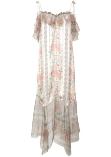 Anna Sui Whisper Rose tulle dress