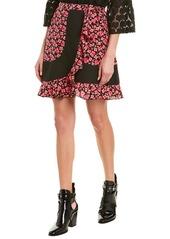 Anna Sui Wildflowers In The Wind Silk Mini Skirt