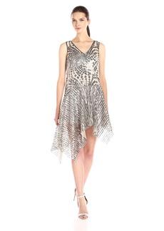Anna Sui Women's Celestial Sequins Asymmetrical Dress