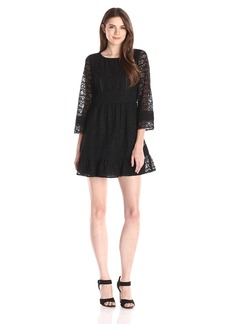 Anna Sui Women's Washed Silk and Lace Dress