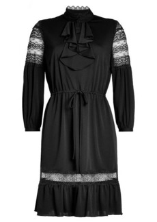 Anna Sui Crepe Dress with Lace Panels