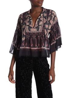 Anna Sui Crinkle Silk Blouse