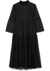 Anna Sui Crocheted Cotton-blend Lace Midi Dress