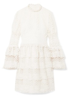 Anna Sui Dew Drop & Trellis Guipure Lace Mini Dress