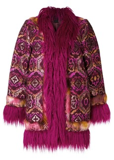 Anna Sui draped embroidered coat