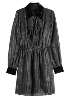 Anna Sui Dress with Metallic Thread and Velvet