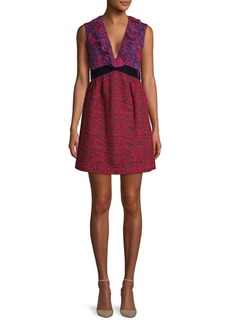 b4e3c841b3 Anna Sui Embroidered Floral A-Line Dress