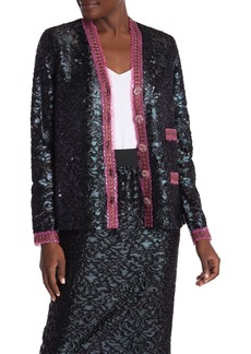 Anna Sui Jacquard Embroidered Cardigan