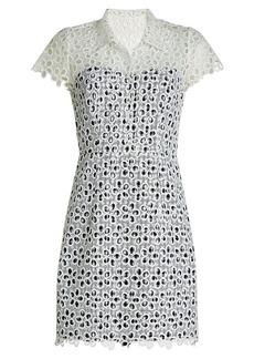 Anna Sui Printed Eyelet Dress