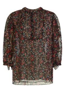 Anna Sui Printed Silk Blouse
