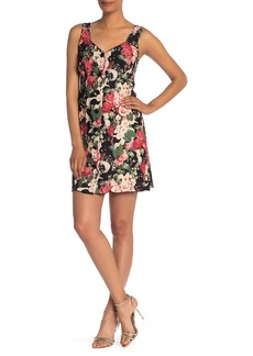 Anna Sui Rose Garland Sleeveless Crepe Dress
