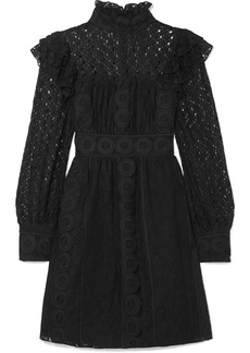 Anna Sui Rows Of Flowers Cotton-blend Guipure Lace Dress