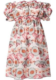 Anna Sui sunflower jacquard dress