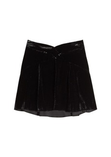 Anna Sui Velvet Skirt with Silk