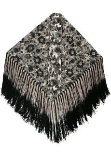 Anna Sui Walk in the Shade floral lurex shawl