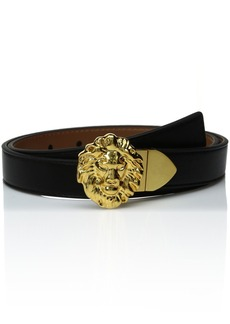 Ak Anne Klein Women's Anne Klein 25mm Reversible Belt With Lion Logo Buckle black/Antelope M