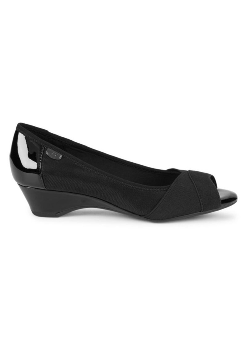 Anne Klein AK Memory2 Peep-Toe Wedge Pumps