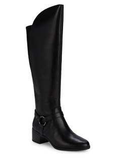 Anne Klein Jamari Leather Knee-High Boots
