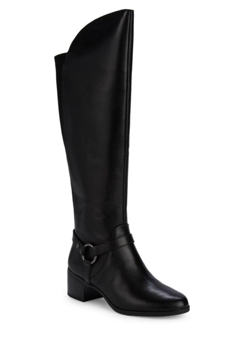 Anne Klein Jamari Leather Knee-High Boots