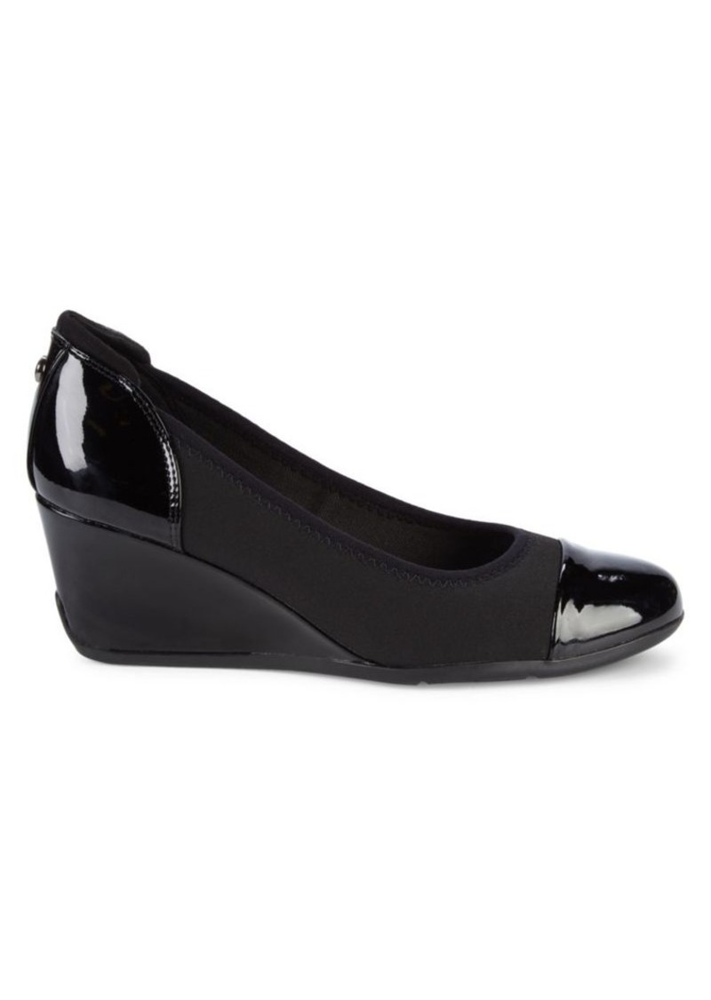 Anne Klein Aktopeka Patent Wedge Pumps