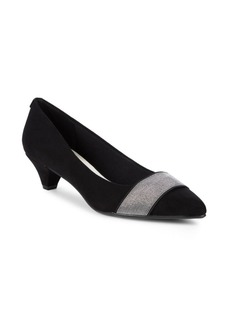 Anne Klein Xaria Textured Kitten Heel Pumps
