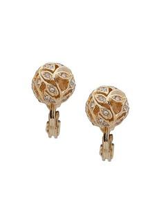 Anne Klein 2-Pair Crystal Ball Earrings
