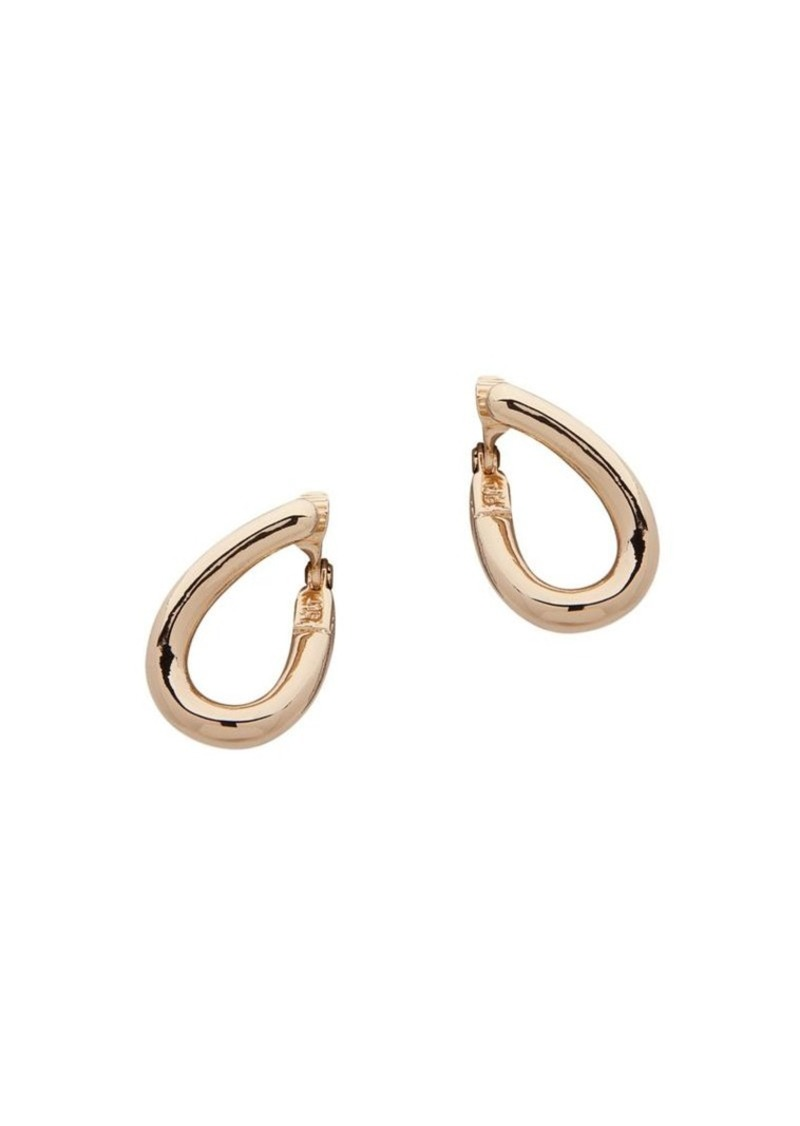 Anne Klein 2-Pair Goldtone Drop Hoop Clip-On Earrings