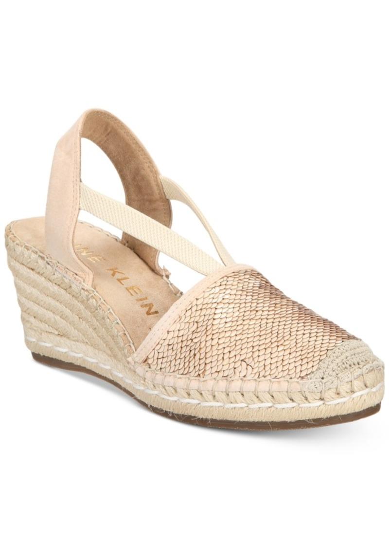 51780d46d42 Anne Klein Anne Klein Abbey Espadrille Platform Wedge Sandals