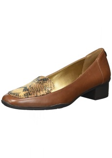Anne Klein AK Sport Women's Daneen Pump dakr Cognac Leather  M US