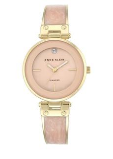 Anne Klein Analog Enamel Filled Bangle Bracelet Watch