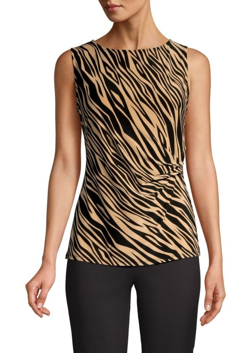 Anne Klein Animal-Print Sleeveless Top