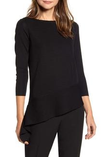 Anne Klein Asymmetrical Long Sleeve Sweater