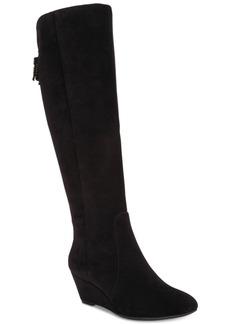 Anne Klein Azriel Wide-Calf Wedge Boots